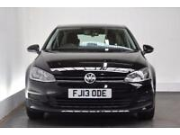 VOLKSWAGEN GOLF 1.6 S TDI BLUEMOTION TECHNOLOGY 5d 103 BHP (black) 2013