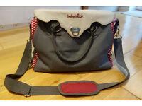 Babymoov Baby Chic large changing bag with unused bottle bag, dummy bag, change mat , blanket. VGC