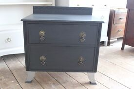 Vintage bedside chest, up-cycled.