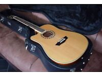 Washburn WD10SCE Electro-Acoustic Left-Handed Guitar