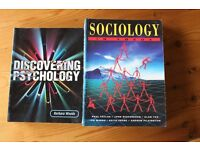 Two Books for sale: Discovering Psychology and Sociology