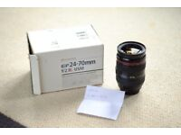 Canon 24-70 f2.8 l lens *******NOW SOLD *******