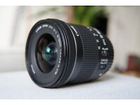 Mint Condition Canon EF-S 10-18mm f/4.5-5.6 IS STM lens