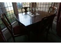 Vintage Dining table - with 4 chairs