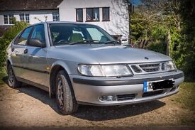 Loved Saab 9-3, petrol, automatic. MOT till December. 1998/R reg.