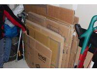 Cardboard Boxes over 40 assorted