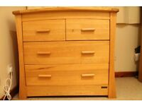 Mamas and Papas Ocean Range solid oak dresser/ changer, used - in good condition