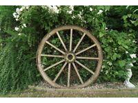 original antique french farm cartwheels and axle