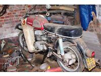 VINTAGE c1974 TROPHY MZ MOTORBIKE / MOTORCYCLE COMPLETE BARN FIND