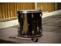 !!RARE FIND!! 70's SLINGERLAND BLACK CHROME 14x14 FLOOR TOM VGC (COLLECTION LE27QT