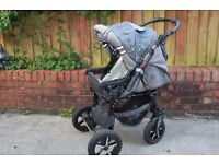 Baby Merc 7 Prams Pushchair with changing bag and rain cover (same design)