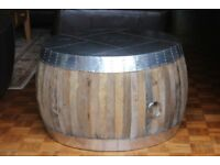 Round Aluminium & Reclaimed Wood Coffee Table