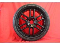 "18"" Custom Black Alloy Wheels & Hankook Tyres 4x108 Ford Vauxhall Peugeot - TSW Catalunya"