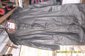 country style waxed long coat.