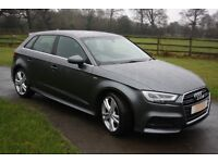 66 Plate Audi A3 sportback 2.0 TDI S Line 6 speed facelifted model