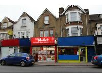 SHOP WITH A3 PERMISSION AND TWO BEDROOM FIRST FLOOR MAISONETTE IN WALTHAMSTOW – FREEHOLD
