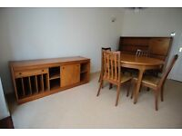 Teak Wood Dinning Room Furniture,Table and Chairs, Sideboard and Versatile Storage Unit