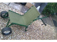 RM Wayfarer Bankmaster seat and trolley in one.