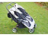 City Mini Baby Jogger Double with Carry Cot