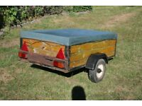 3 x 5 foot trailer camping / hobby suspension welded chassis car trailer