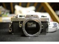 Pentax MX SLR camera, mechanical shutter, PK mount, manual focus