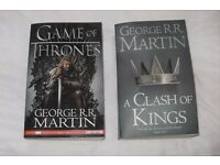 Game of Thrones and A Clash of Kings Books - fab condition.