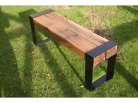 Double Oak Beam Bench - Industrial Cottage