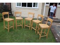 5x Kitchen Bar Chairs From John Lewis