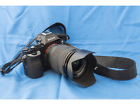 Sony A7 mirrorless full-frame camera with 28-70mm kit lens