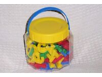 Tub of 70 Magnetic Letters, Numbers and Symbols, Very Good Condition, Histon