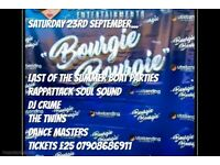 BOURGIE BOURGIE... END OF SUMMER BOAT PARTY