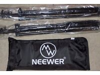 """Two Neewer Aluminum Light Stands 6.23 Feet/190cm and Neewer 50cmx70cm/20""""x28"""" Square Softbox"""