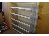 Chrome Shelving Units x 6 Shelves Stack Together On Top 130cm wide x 42cm depth