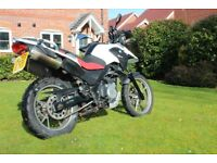 BMW G650 GS 652cc, New front & rear tyres fitted Sept' 2017. Tax 1/8/18,MOT due 26/08/2018