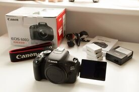 Canon 600d - Mint 'as-new' condition, ideal DSLR for beginner