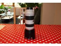 Canon EF 70-200 f2.8 l with 77mm uv filter