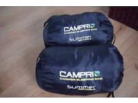CAMPRI CAMPER SLEEPING BAG (2x SINGLE OR MAKES 1x DOUBLE) SUMMER RECTANGLE