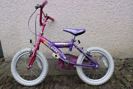 Girls Bicycle - 16 inch wheels (5 to 8 yrs approx)