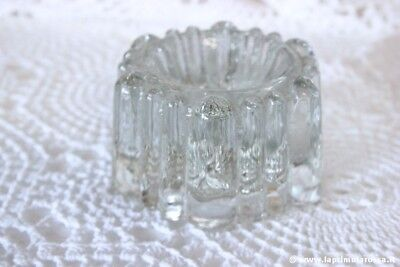 FERMACARTE ANTICO IN VETRO \ VINTAGE GLASS PIANO COSTER CUP / POSACENERE
