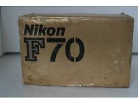 Nikon F70 AF film camera - never used