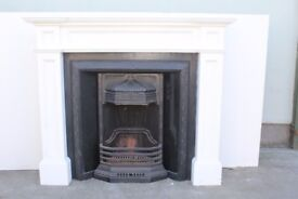 Lovely Fire Place Insert For Sale ( Art Noveau ) *Cheap At Only £260!* Comes With Wooden Mantle #03