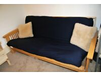 Solid Wood 'Futon Company' Luxury Double Sofa Bed