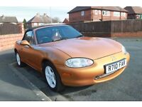 for sale 1998 gold mazda mx-5 mk 2 excellent condition