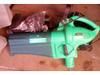 Leaf blower, shredder, vacuum.