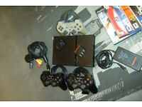 Sony Playstation 2 Slimline Console PS2 Bundle with 11 Games - QUICK SALE