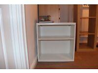 White book shelf