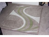 Dunelm Rug 170cm x 120cm Green Brown Cream Pattern