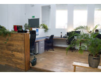 DESK SPACE available in large, light shared studio at Spike Island