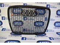 AUDI A6 C6 RS6 FRONT GRILL GLOSS BLACK 2005 - 2012 APROX FITTING FITS C6 MODELS