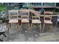 Antique dining chairs, four plus a spare!